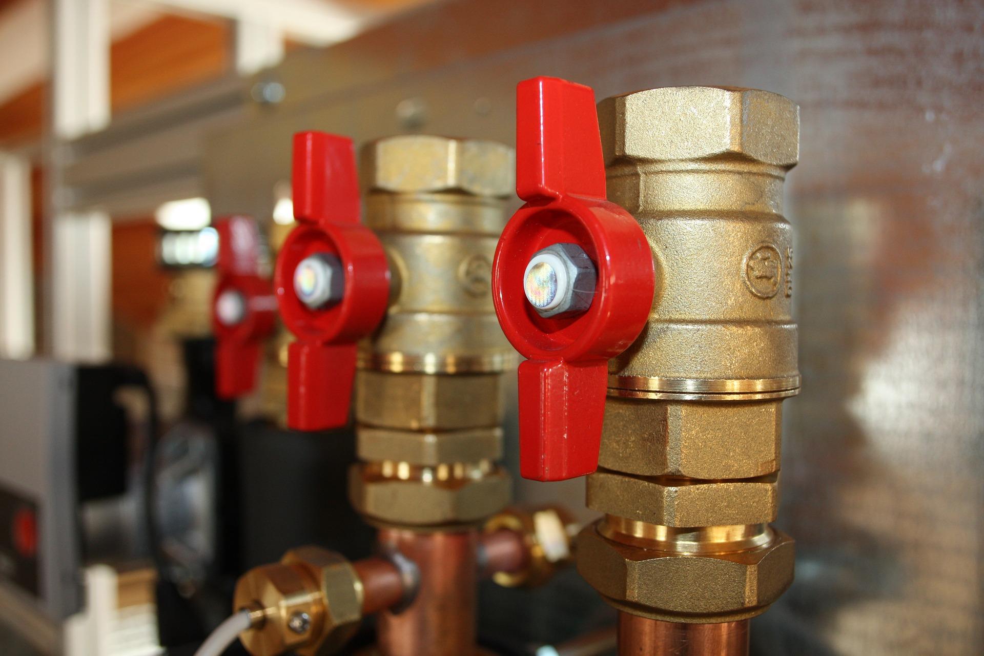 Photo de vanne de plomberie
